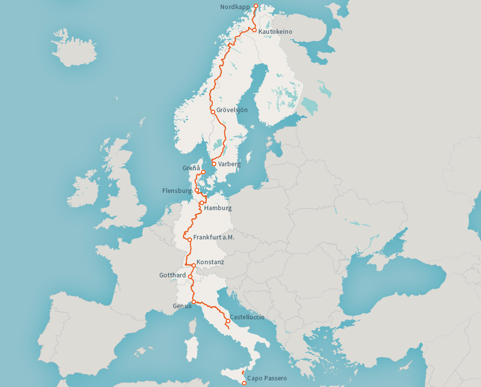 Track of the european long distance path E1
