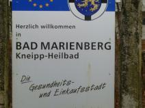 Ortsschild Bad Marienberg